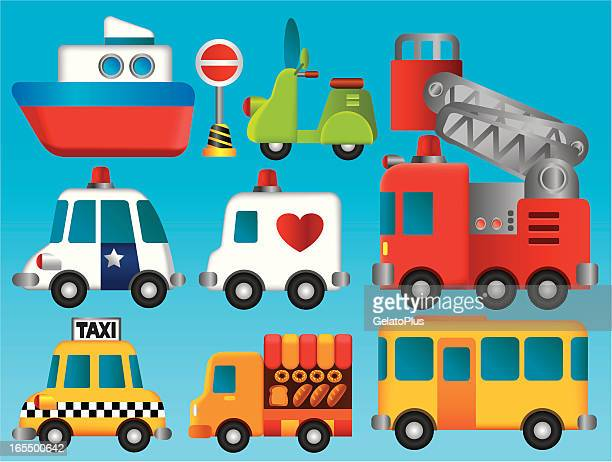 transportation collection - yellow taxi stock illustrations, clip art, cartoons, & icons