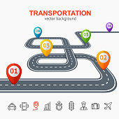 Transportation Concept Card or Poster. Vector