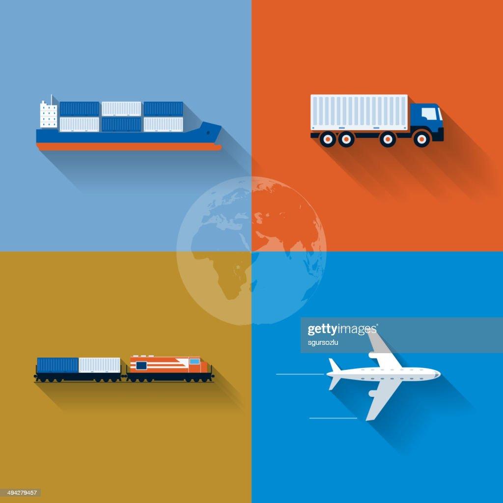 Transportation Concept Icon Set