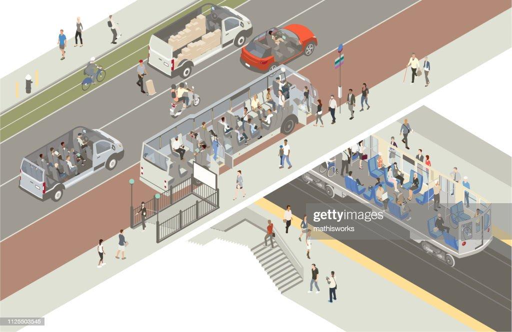 Transportation cutaway : stock illustration