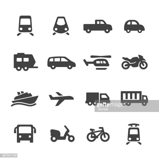 transportation icons - acme series - disembarking stock illustrations