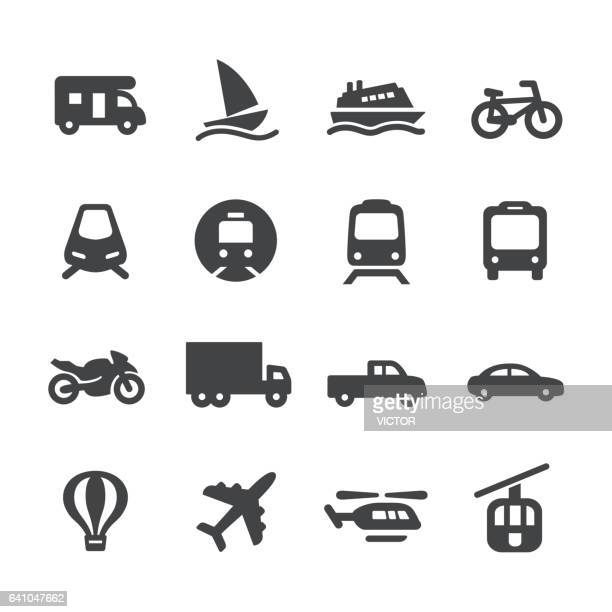 stockillustraties, clipart, cartoons en iconen met vervoer icons - acme serie - tram