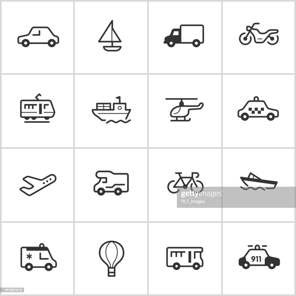 Transportation Icons — Inky Series