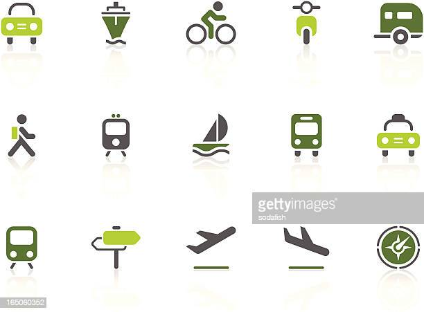 Transportation icons | lime series