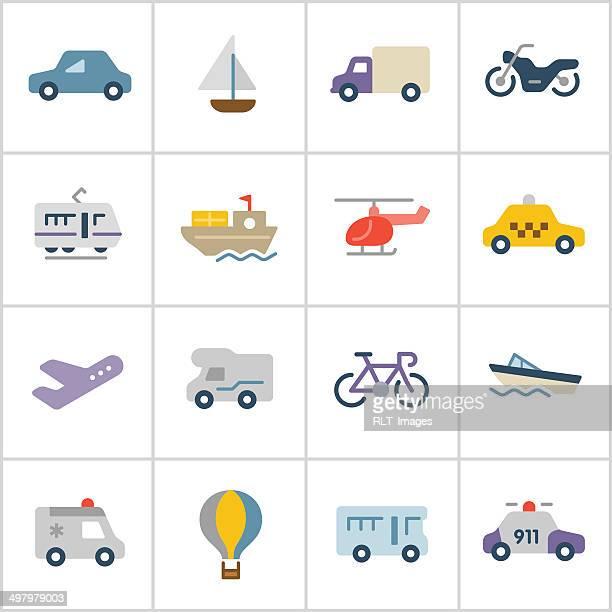 illustrations, cliparts, dessins animés et icônes de série d'icônes de transport-poly - camping car