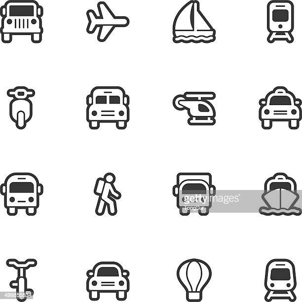 Iconos de transporte de contorno Regular