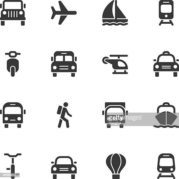 Transportation icons - Regular