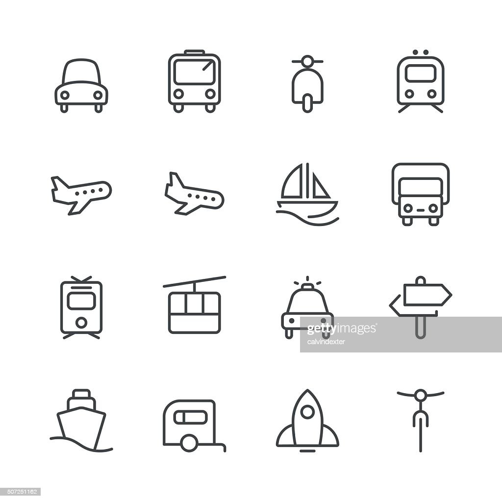Transporte conjunto de ícones de 1/Black linha série : Ilustração