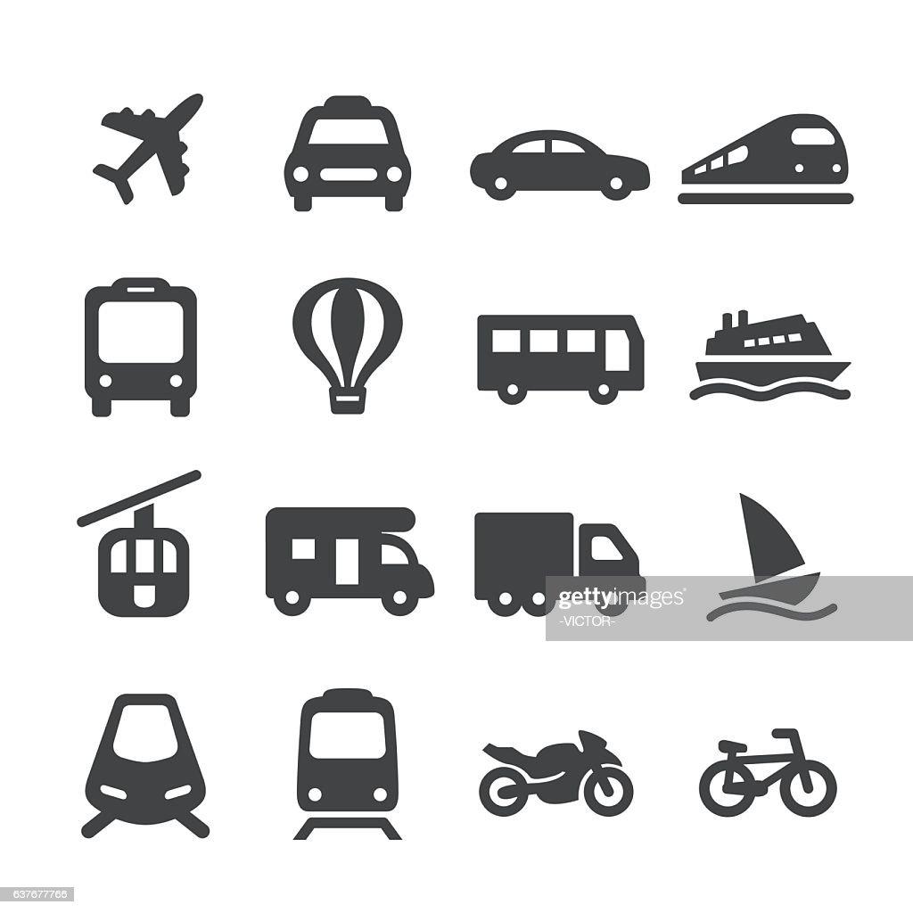 Transportation Icons Set - Acme Series : stock illustration