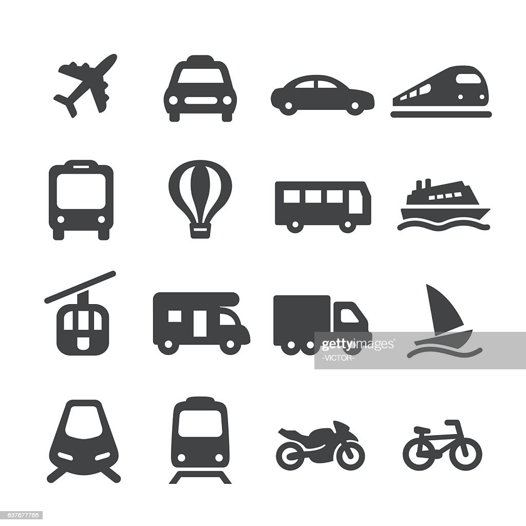 Transportation Icons Set - Acme Series