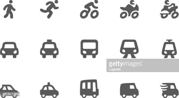transportation icons - pedestrian stock illustrations, clip art, cartoons, & icons