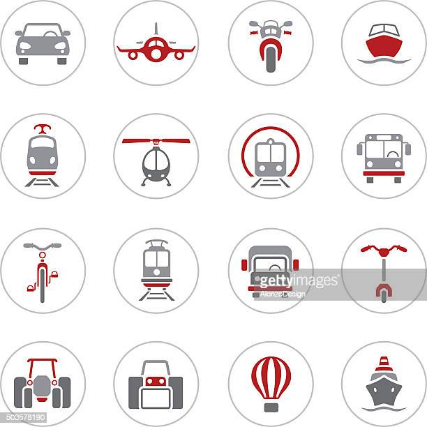transportation icons - front view stock illustrations