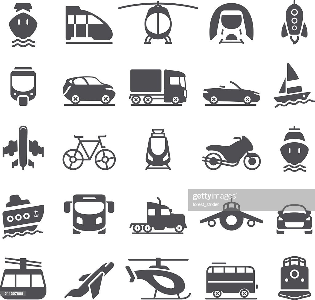 Transportation Icons : stock illustration