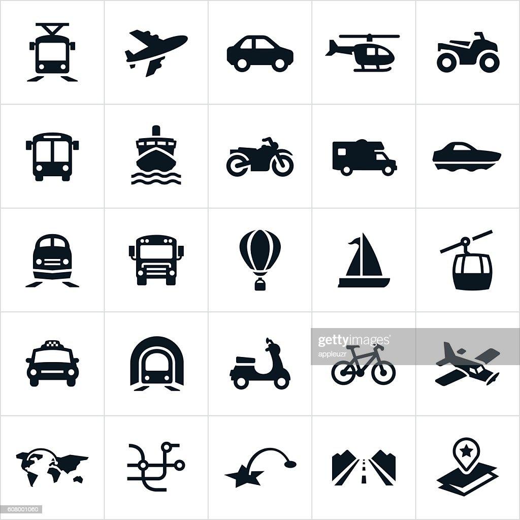 Transportation Icons : stock illustration