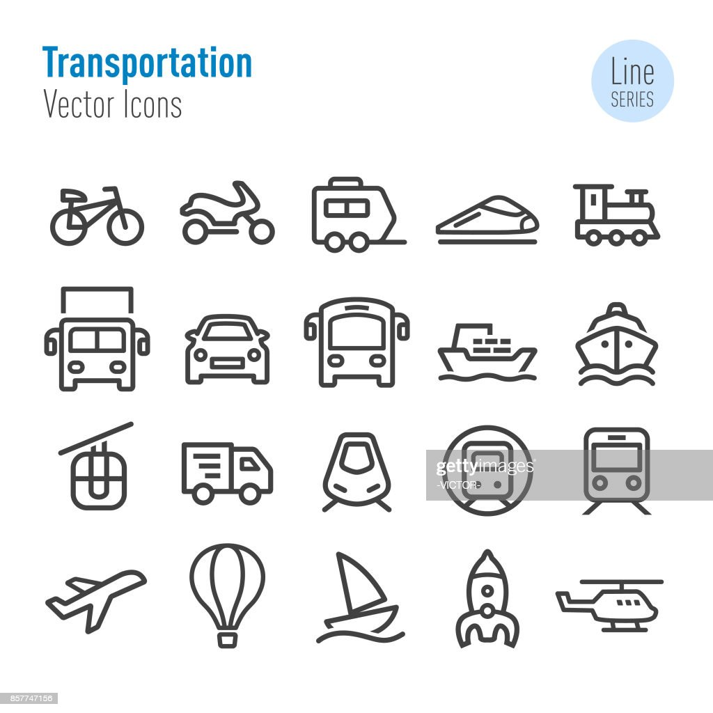 Transportation Icons - Vector Line Series