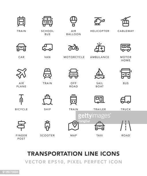 illustrations, cliparts, dessins animés et icônes de ligne icônes de transport - camping car