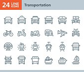Transportation - line vector icons