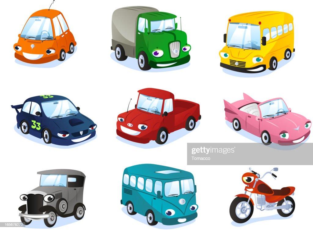 Transportation means: Car Truk Bus Motorbike Wagon Types