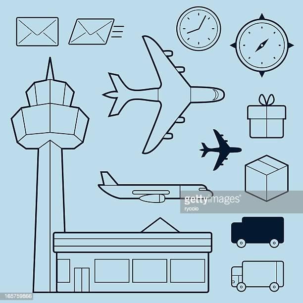ilustraciones, imágenes clip art, dibujos animados e iconos de stock de describir elementos de transporte - torre petrolera