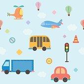 transportation seamlesss pattern