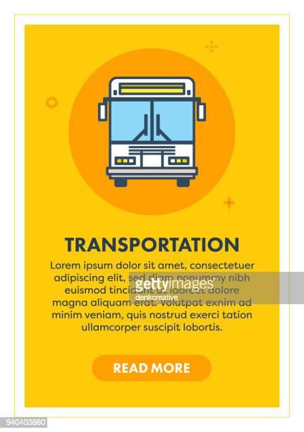 transportation sign - bus stock illustrations