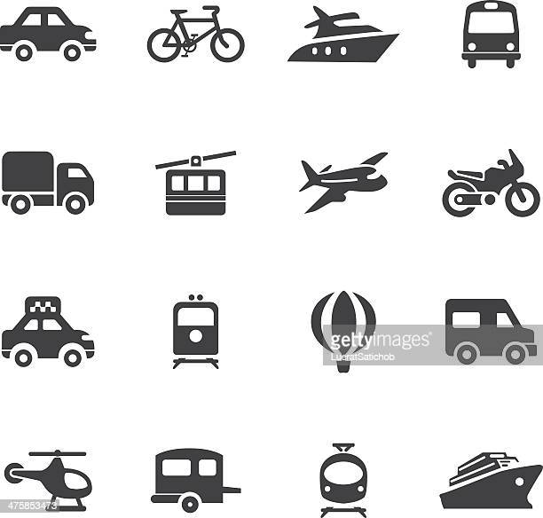 transportation silhouette icons - yellow taxi stock illustrations, clip art, cartoons, & icons