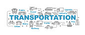 transportation vector banner