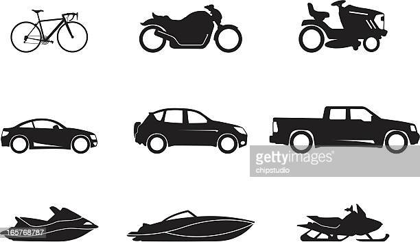 transportation - lawn mower stock illustrations