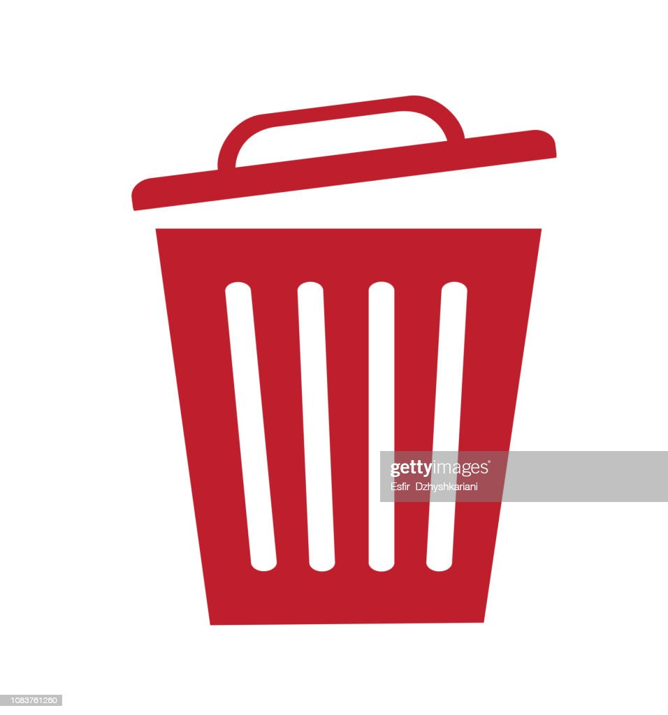 Trash bin basket icon symbol delete vector illustration isolated on white