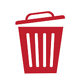 Trash bin basket icon symbol delete vector illustration isolated on white