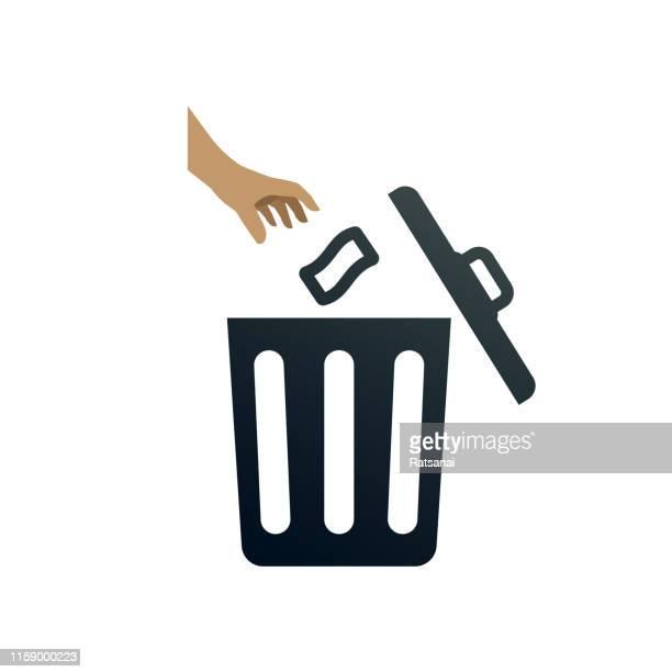 trash bin - garbage can stock illustrations