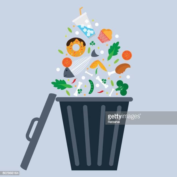 trash bin - garbage bin stock illustrations