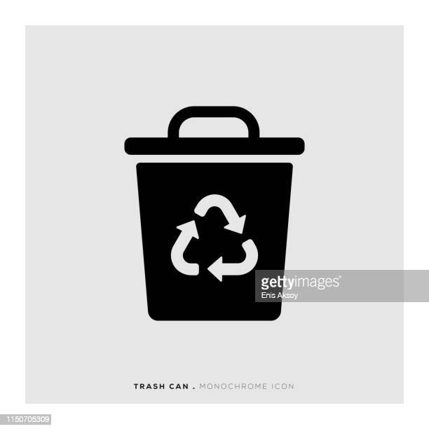 Trash Can Monochrome Icon