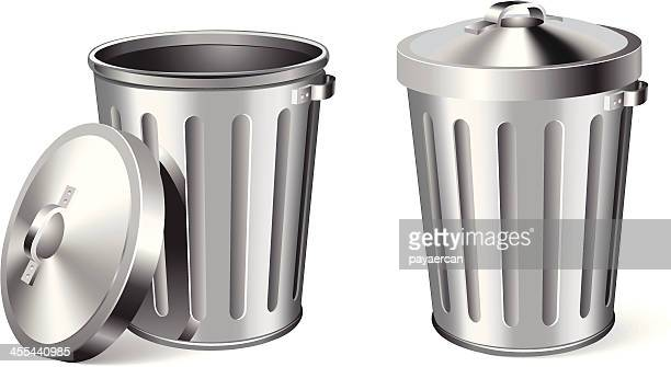 trash can - garbage can stock illustrations