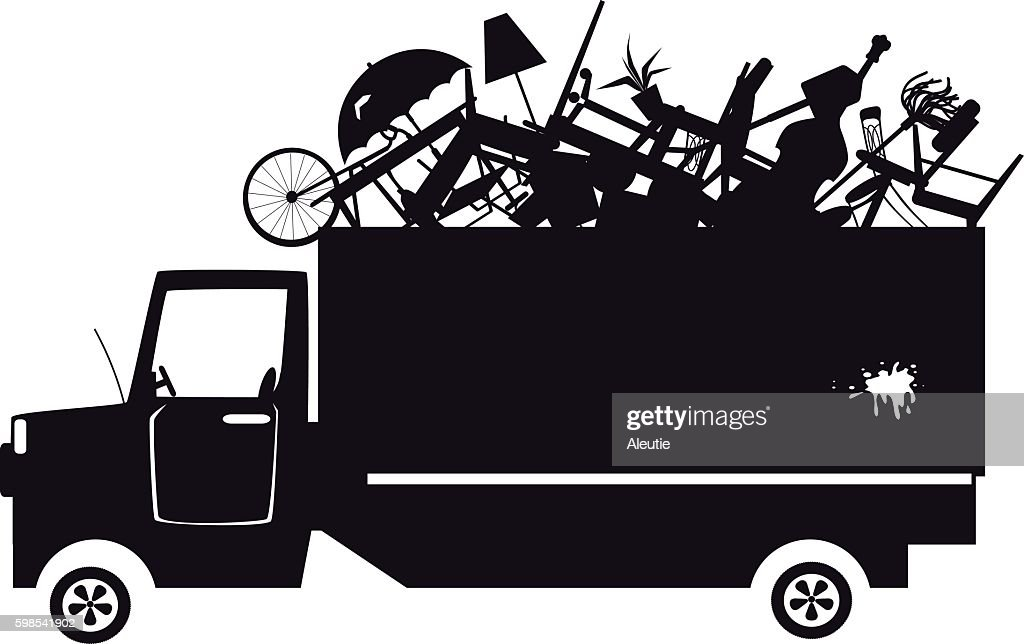 Trash collection clip-art