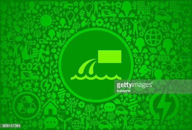 Entorno verde Vector icono patrón de basura volcado