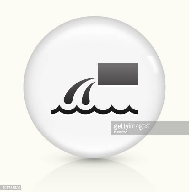 Descarga poner verde icono sobre blanco, Vector de redondo botón