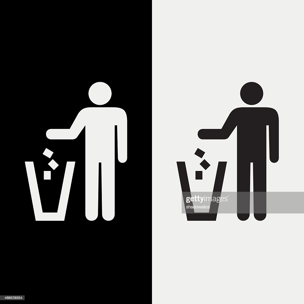 trash icons set great for any use. Vector EPS10.