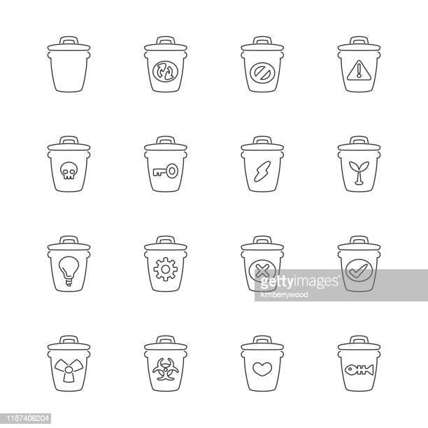 ゴミ 箱 - バイオハザードマーク点のイラスト素材/クリップアート素材/マンガ素材/アイコン素材
