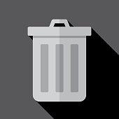 Trashcan Icon Flat