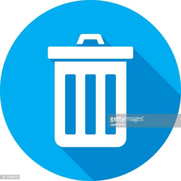 ilustrações de stock, clip art, desenhos animados e ícones de trashcan icon silhouette - gari