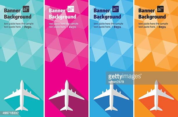 Travel abstract banner