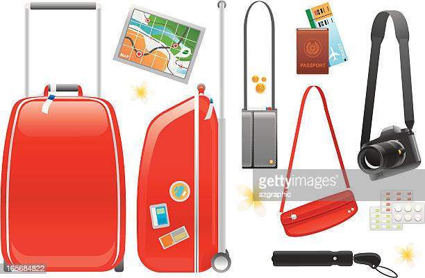 travel accessories - large format camera stock illustrations, clip art, cartoons, & icons