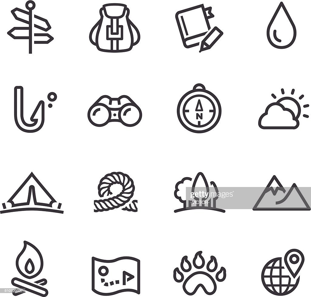 Travel, Adventure and Camping Icons - Line Series