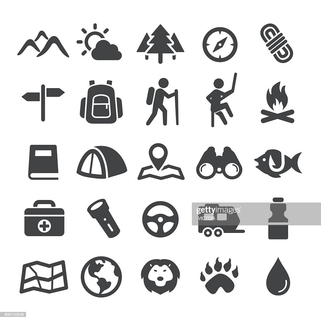 Travel, Adventure and Camping Icons - Smart Series : Illustration