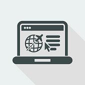 Travel agency website icon