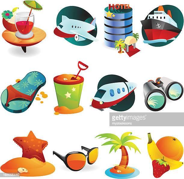 Travel & Vacation Web Icons