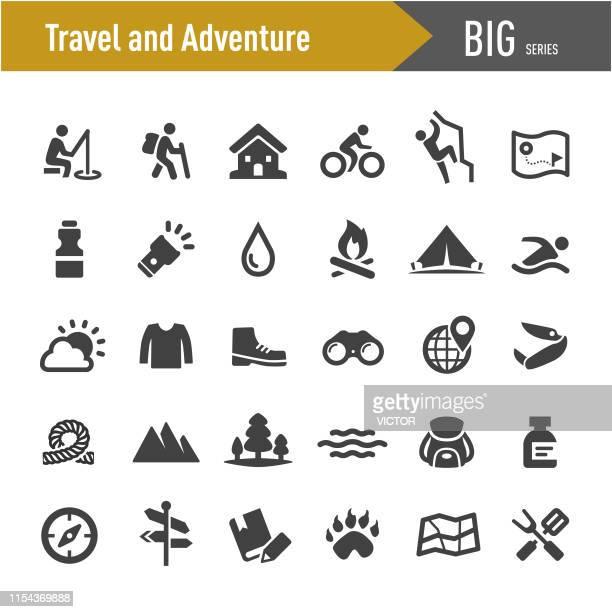 旅行や冒険のアイコン-ビッグシリーズ - 屋外点のイラスト素材/クリップアート素材/マンガ素材/アイコン素材