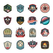 Travel and camping logo, emblem
