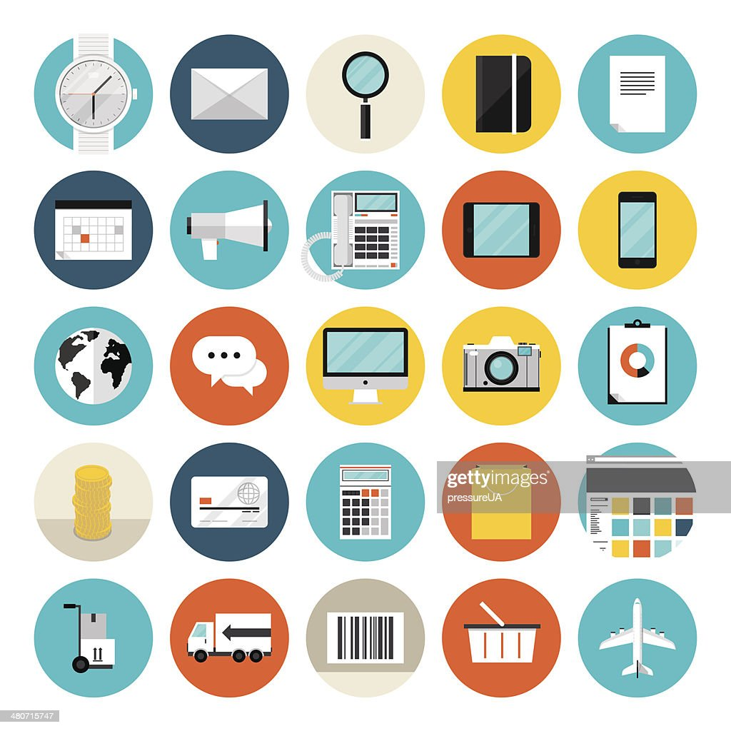 Travel and communication icons